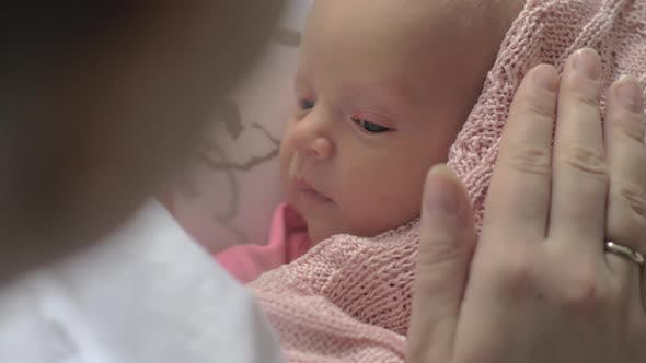 Thumbnail for - Touching Moment of Mother with Newborn Baby