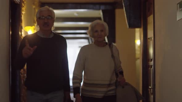 Thumbnail for Delighted Mature Caucasian Couple Moving into Hotel
