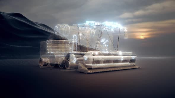 The Harvester Machine In Digital Cyber Area Hd