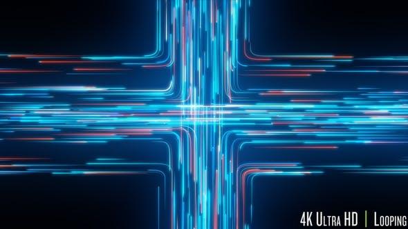 Thumbnail for 4K Digital Network Traffic Concept Loop