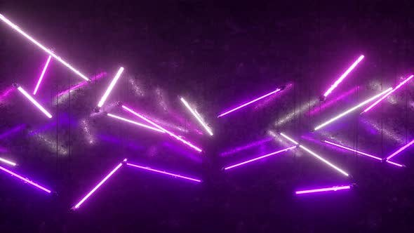 Thumbnail for Purple and White Neon Fluorescent Lights
