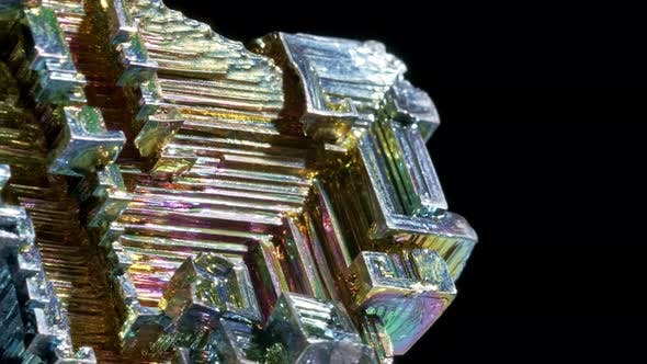 Thumbnail for Piece of Lab Grown Bismuth Mineral, an Uncommon Mineral Composed of the Element of the Same Name