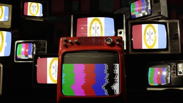 Thumbnail for Flag of Santa Fe Province, Argentina, and Retro TVs.