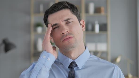 Thumbnail for Headache, Portrait of Tense Middle Aged Gray Hair Man