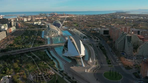 Thumbnail for Valencia Spain. Aerial View. City of Arts and Sciences.
