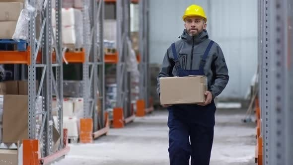 Thumbnail for Warehouse Worker Carrying Box