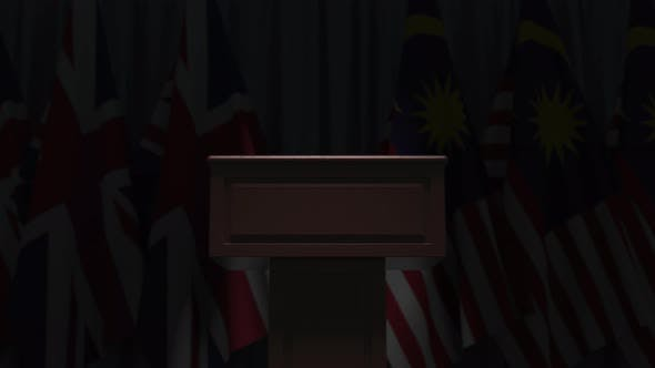 Flags of Malaysia and the United Kingdom