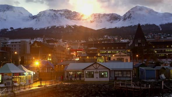 Thumbnail for City of Ushuaia at the Sunset.