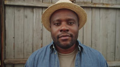 Portrait of Smiling Afro-American Male Farmer