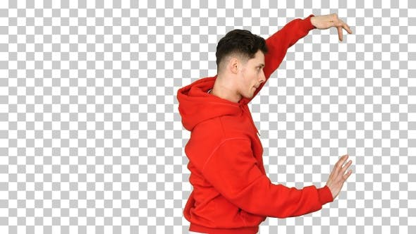 Thumbnail for Young Hip-Hop Man Break Dancing Top Break Dance, Alpha Channel
