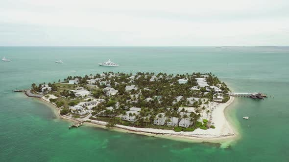 Thumbnail for Aerial video Sunset Key in Key West Florida a residential island