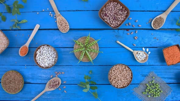 Thumbnail for Legumes on Wooden Ecological Background