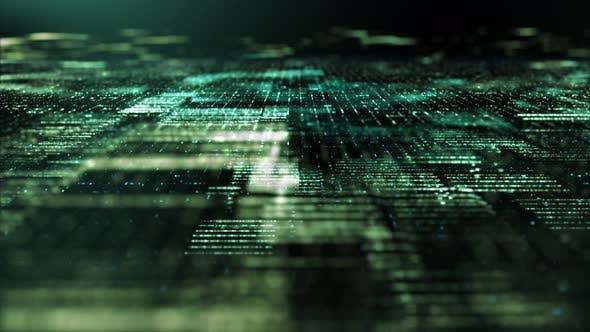 Thumbnail for Futuristic Digital Abstract Matrix Particles Grid 01