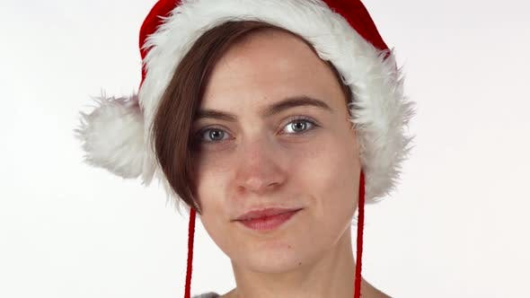 Thumbnail for Young Christmas Girl Looking Shocked or Surprised