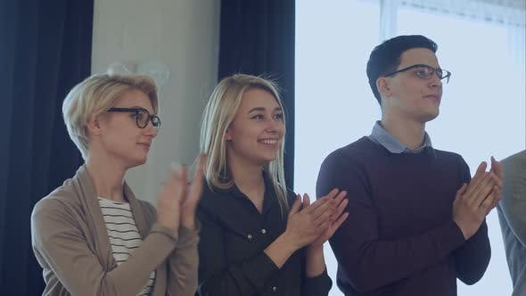 Thumbnail for Happy Creative Business Team Celebrating Success in Office