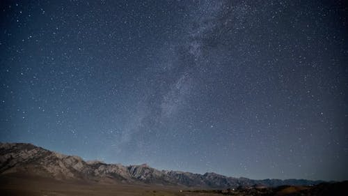 Stars and Milky Way Night Time Lapse