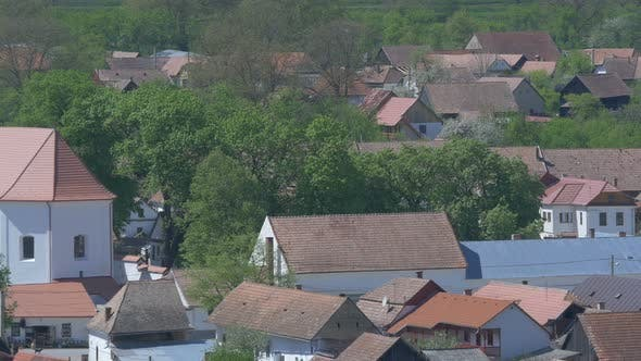 Thumbnail for Houses and the Unitarian Church in Rimetea
