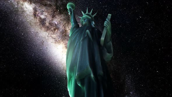 Thumbnail for Statue Of Liberty Milkyway Timelapse