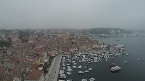 Thumbnail for Rovinj seaport, aerial view
