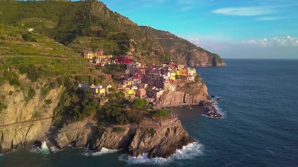 Thumbnail for Aerial View of Cinque Terre in Five Lands