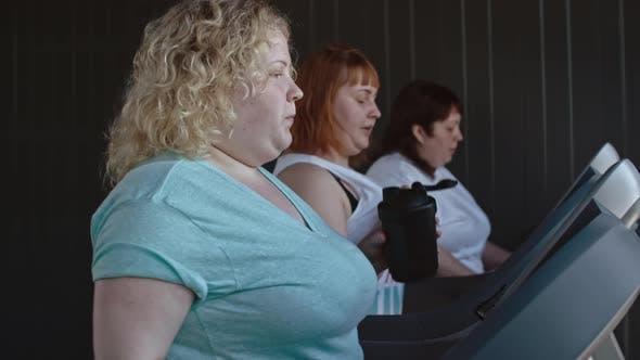 Overweight Women Burning Calories
