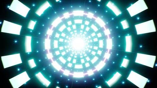 Vj Neon Light Glitter Retro Background 4K Loop
