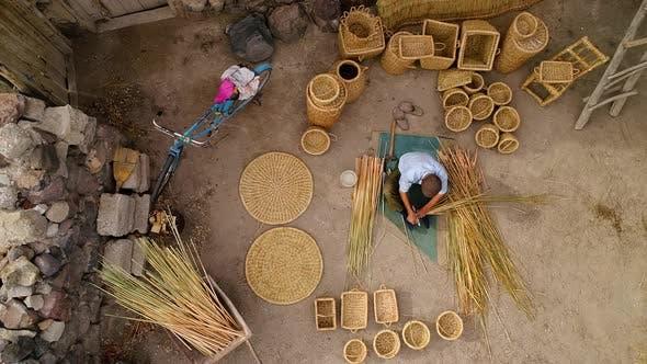 Thumbnail for Aerial View Bamboo Basket Craftsman