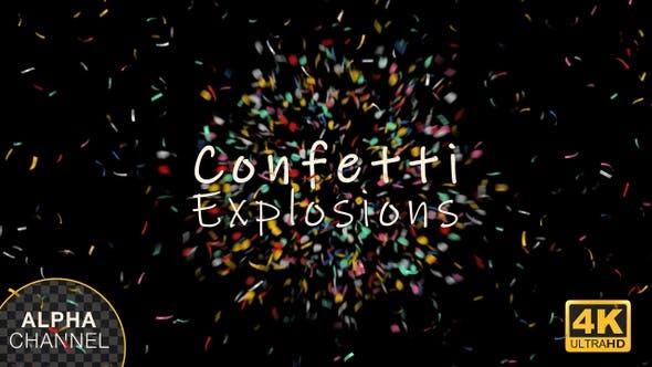 Thumbnail for Confetti Explosions and Burst