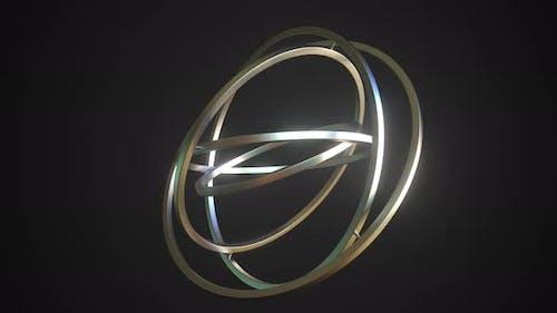 Balancing Gimbal with Polished Metal Rings