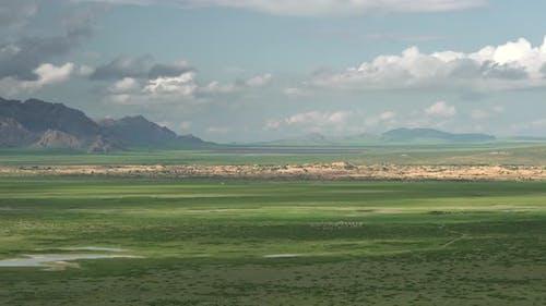 Elsen Tasarkhai Desert Sand Dunes in Mongolian Topography