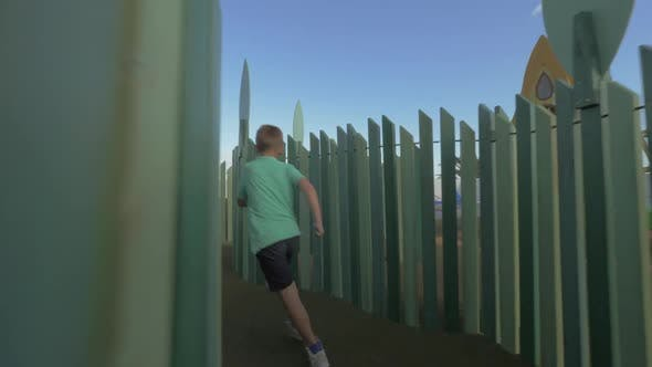 Thumbnail for Boy Having Fun on Large Playground