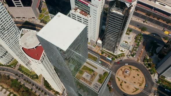 Fly Over Modern Tall Paradox Torre Building