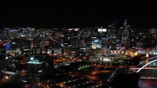 Night video Nashville Tennessee 4k