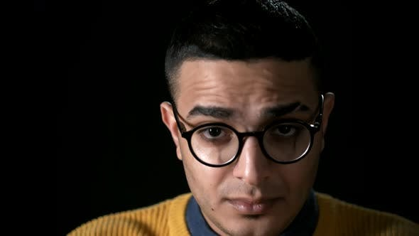 Thumbnail for Portrait of Young Arab Man in Spectacles