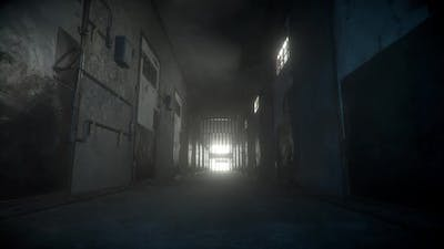 Prison Corridor Lights Up at the End
