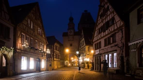 Thumbnail for Morning Timelapse of Rothenburg Ob Der Tauber at Christmas