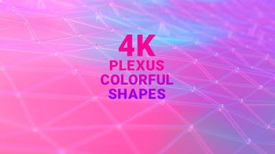 Waving Plexus Colorful Shapes