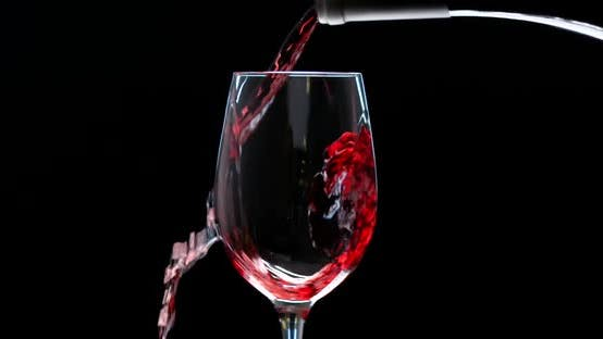 Thumbnail for Rose Wine Pouring from The Bottle. Footage of Pouring Wine Into the Glass