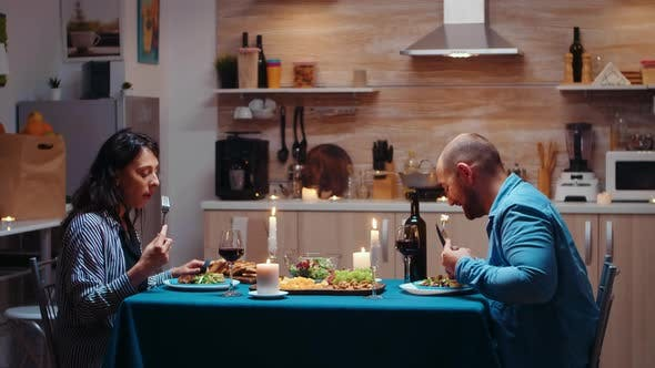 Lovers Dining Together
