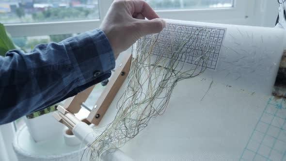 Needlework handicraft lifestyle concept.