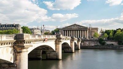 4K Paris France Timelapse / The Parlement of France