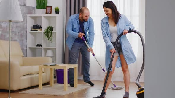 Thumbnail for Enjoying House Cleaning