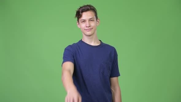 Thumbnail for Young Handsome Teenage Boy Pointing To Camera