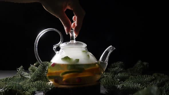 Thumbnail for Beautiful Tea Brewing Ceremony in Transparent Tea Kettle