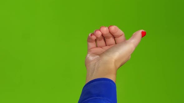 Thumbnail for Gesture of the Right Hand Come Closer. Green Screen Studio