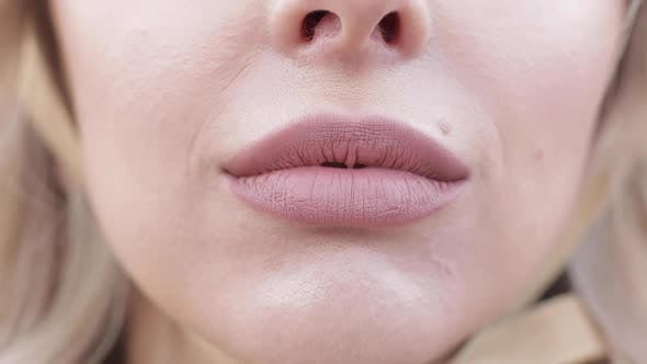 Thumbnail for Sensual Female Lips in Close-up.