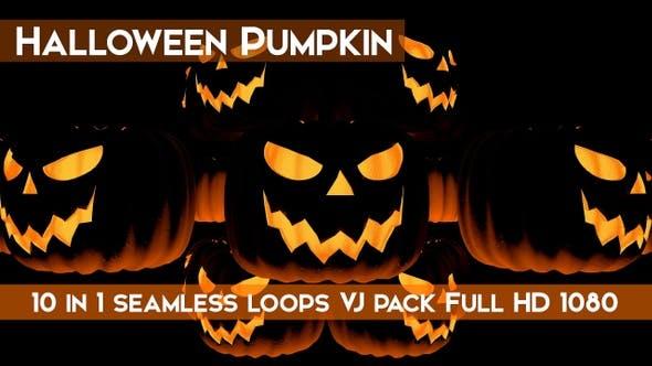 Thumbnail for Halloween Pumpkin VJ Loops Pack