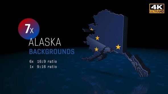 Alaska State Election Backgrounds 4K - 7 Pack