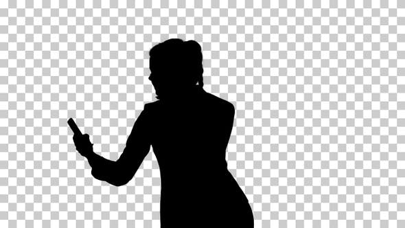 Thumbnail for Silhouette Business woman, Alpha Channel