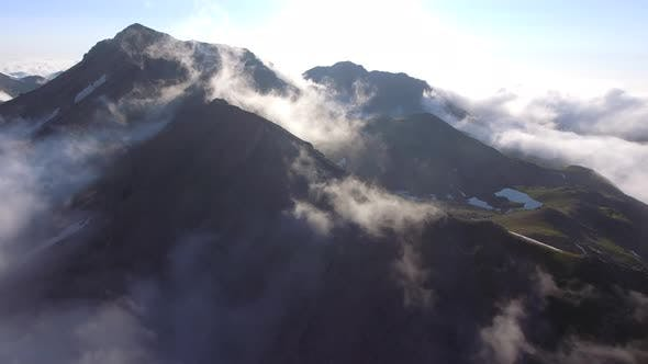 Foggy Mountains and Lakes